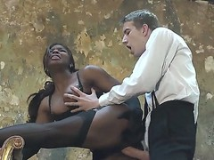 Horny hunk Danny D enjoys having black ebony Jasmine Webb to suck and hard fuck his lengthy shlong
