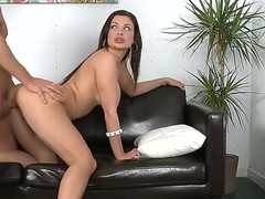 Chick with nice boobies and butt Aletta Ocean just loves to be banged wildly! This day you have a chance of looking at how she is sucking fat rod of man before sex in doggie.