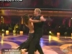 Ebon Handsomeness Cheryl Burke Dancing In a Revealing Black Dress